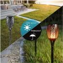 Alev Efektli Güneş Enerjili Solar Bahçe Lambası Aydınlatma