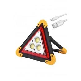 Ledli Şarjlı Reflektör Kamp Araba Acil Durum Lambası 30 W Led 4400 Lityum Şarjlı Pil