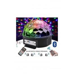 Starmax Ledli RGB Sese Duyarlı Disco Topu Kumandalı Mp3 Çalar Bluetooth USB ve SD Kart Okuyucu