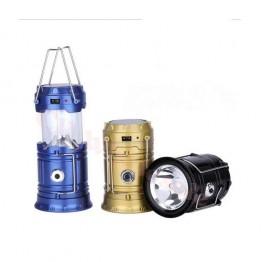 5900T Güneş Enerjili Şarj Edilebilir USB Girişli Kamp Feneri Büyük Boy