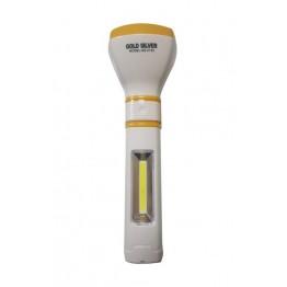 GOLD SILVER GS-2132 3 WATT + 2 WATT COB LED'Lİ ŞARJLI EL FENERİ