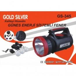 GOLD SILVER GS-345 Güneş Enerjili Solar Aydınlatma Sistemi