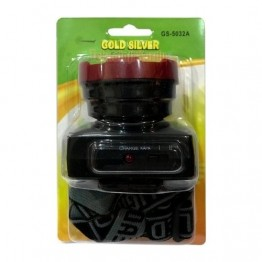 Gold Silver GS-5032A 3 Watt Power LED'li Şarj Edilebilir Kafa Lambası