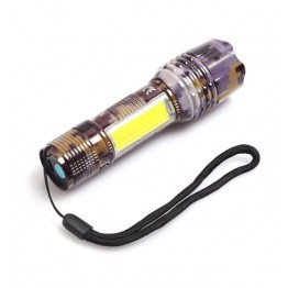 Gold Silver GS-505 USB ile Şarj Edilebilir T6 Led Kamuflaj El Feneri
