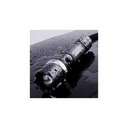 KM-110 Profesyonel Şarjlı El Feneri Ledli+Flashlight+Zoom Özellikli Tüfek Aparatlı 6 Parça Full Set