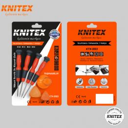 KNITEX KTX-993 Telefoncu Tornavida Seti 7 Parça