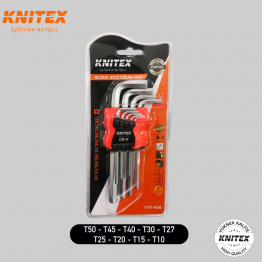 Knitex KTX-408 Alyan Anahtar Takımı 9 Parça Uzun Boy Alyan Seti