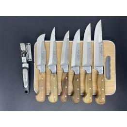 Sürmene El Yapımı Bileme ve Kesim Tahtalı 6'lı Mutfak Bıçak Seti