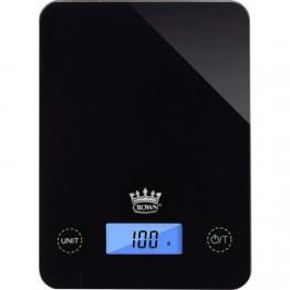 Crown Siyah Cam Dijital Hassas Mutfak Terazisi 1 Gr Hassasiyetli