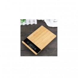 Crown Bambu Desenli Dijital Hassas Mutfak Terazisi 1 Gr Hassasiyetli