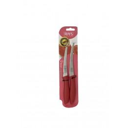 Roys Sebze Meyve Mutfak Bıçağı Kırmızı 2'li