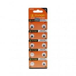 TIANQIU AG0 LR69/LR521/379 Alkalin 10'lu Düğme Pil