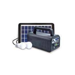 Everton RT-907 Bluetoothlu Şarjlı Radyo Güneş Enerjili 2 Ampullü Solar Aydınlatma Sistemi