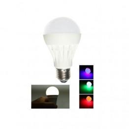 Renk Değiştiren Ampul 9w Beyaz 2w Renkli Lamba  BEYAZ - PEMBE