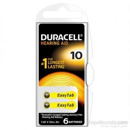 Duracell 10 Numara 6 lı İşitme Cihazı Pili