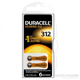 Duracell 312 Numara 6 lı İşitme Cihazı Pili