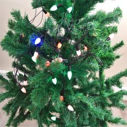 Yılbaşı Ağaç Süsü Damla Şekilli Renkli Led 4 M OR-004